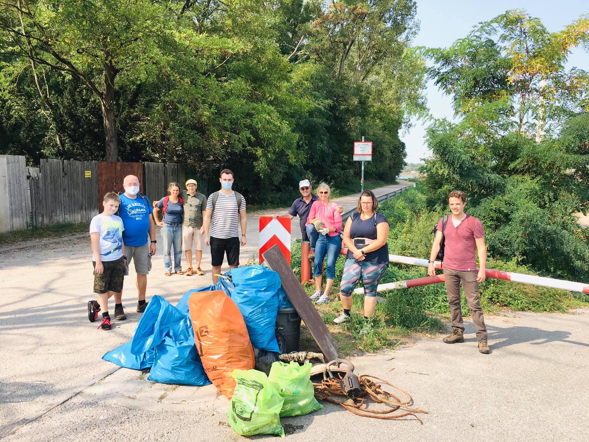 Viel Müll gesammelt beim Rhine-CleanUp